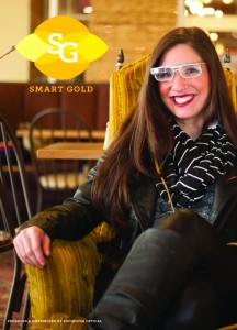 smart gold lenses for Google Glass