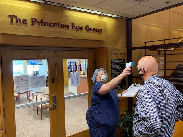 All patients and staff are required to wear masks, and are checked for elevated temperatures and screening questions before entering the office.
